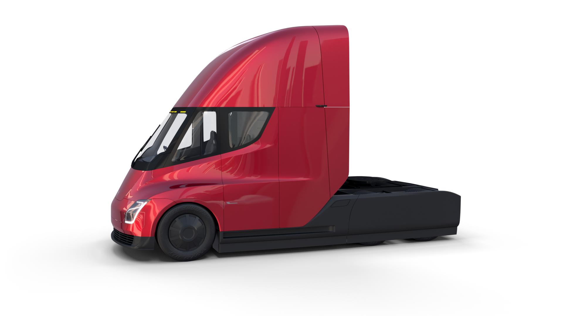 Tesla Semi Truck With Interior Red Semi Trucks Tesla Semi Truck Tesla