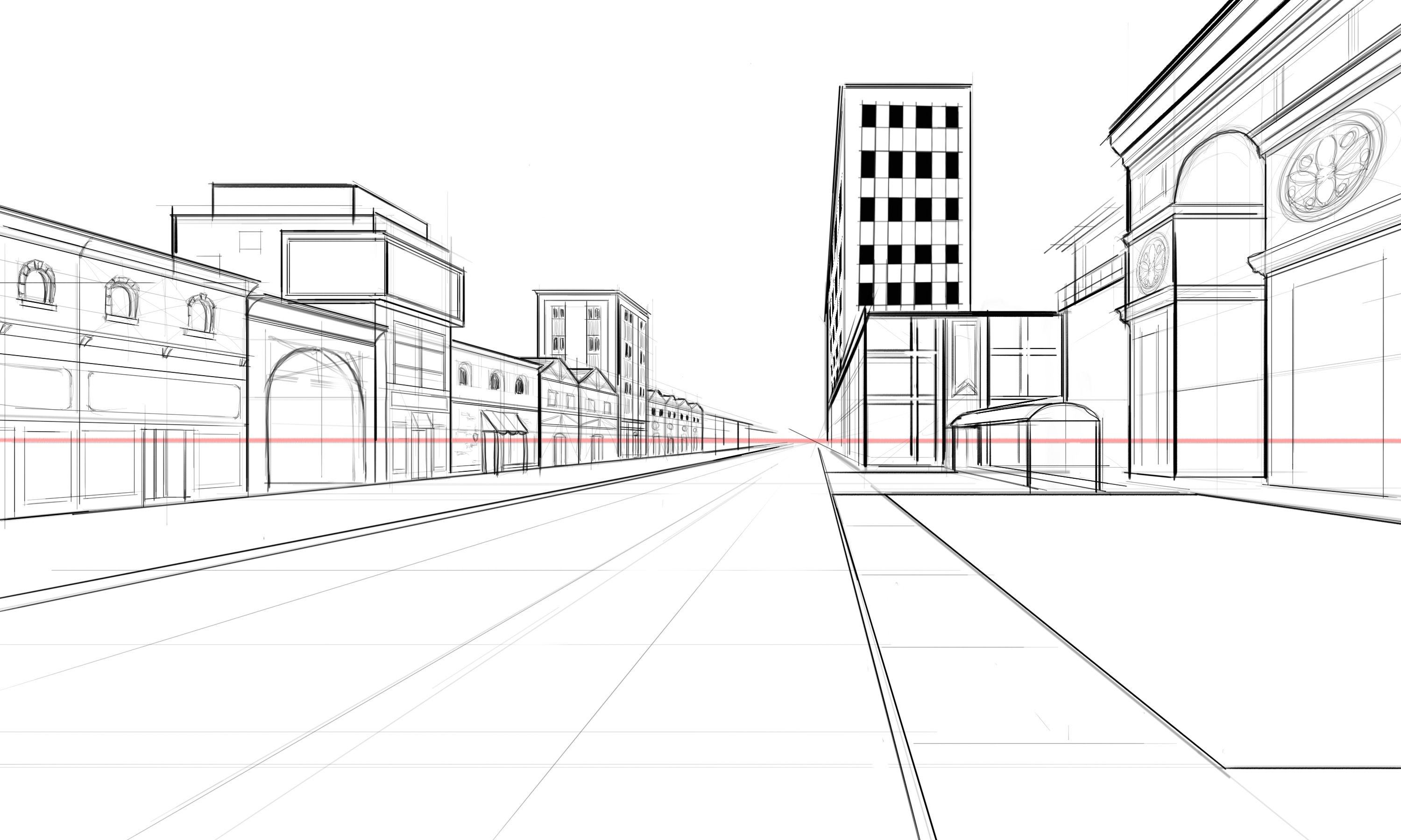 perspective guides  how to draw architectural street