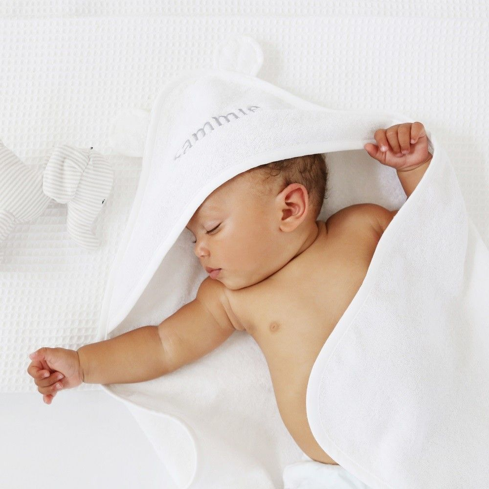 Personalised white hooded towel with ears mum to be pinterest are you interested in our personalised white hooded towel with our babies cotton hooded bathing towel you need look no further negle Image collections