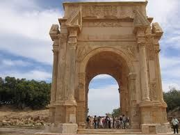 Septimus Severus arch in the city of Leptis Magna - lIBYA