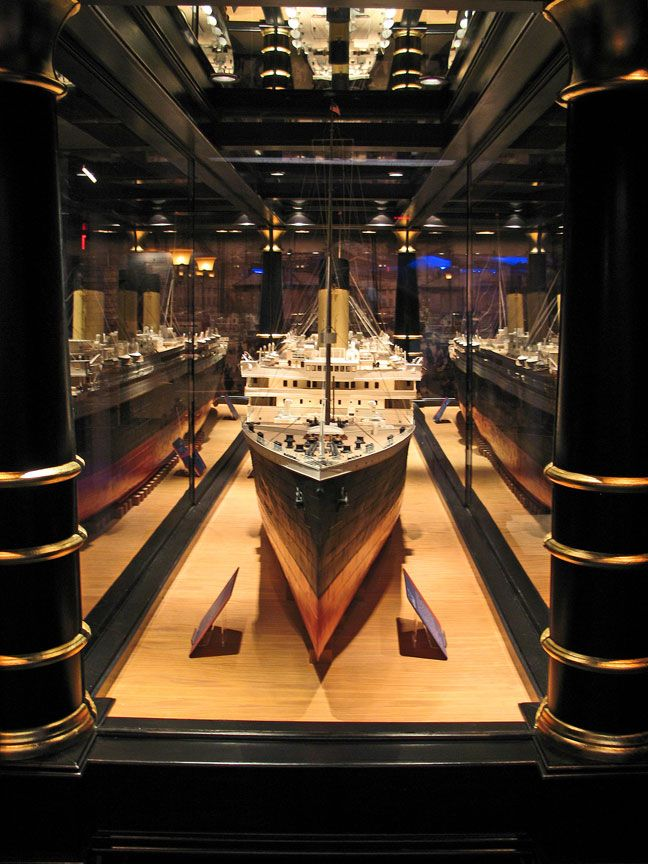 Titanic Branson Interior Titanic 18 ft model, took two years to build.