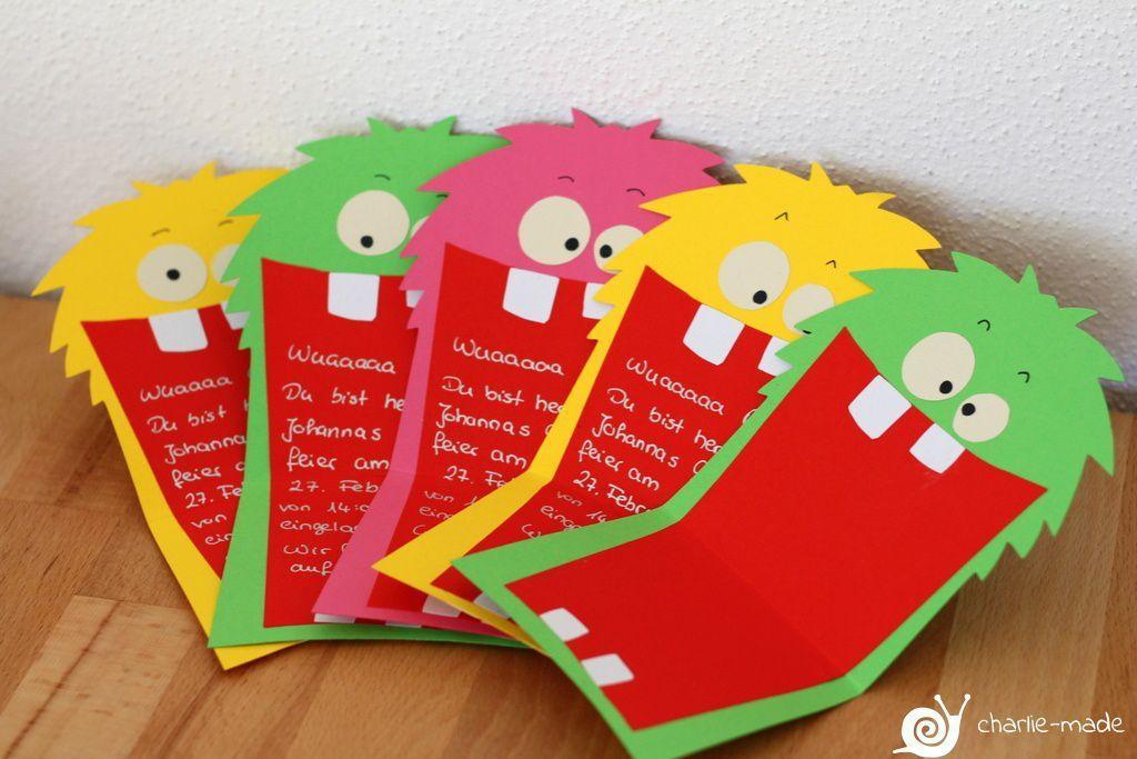 Kindergeburtstag Einladungen Basteln Madchen Einladung