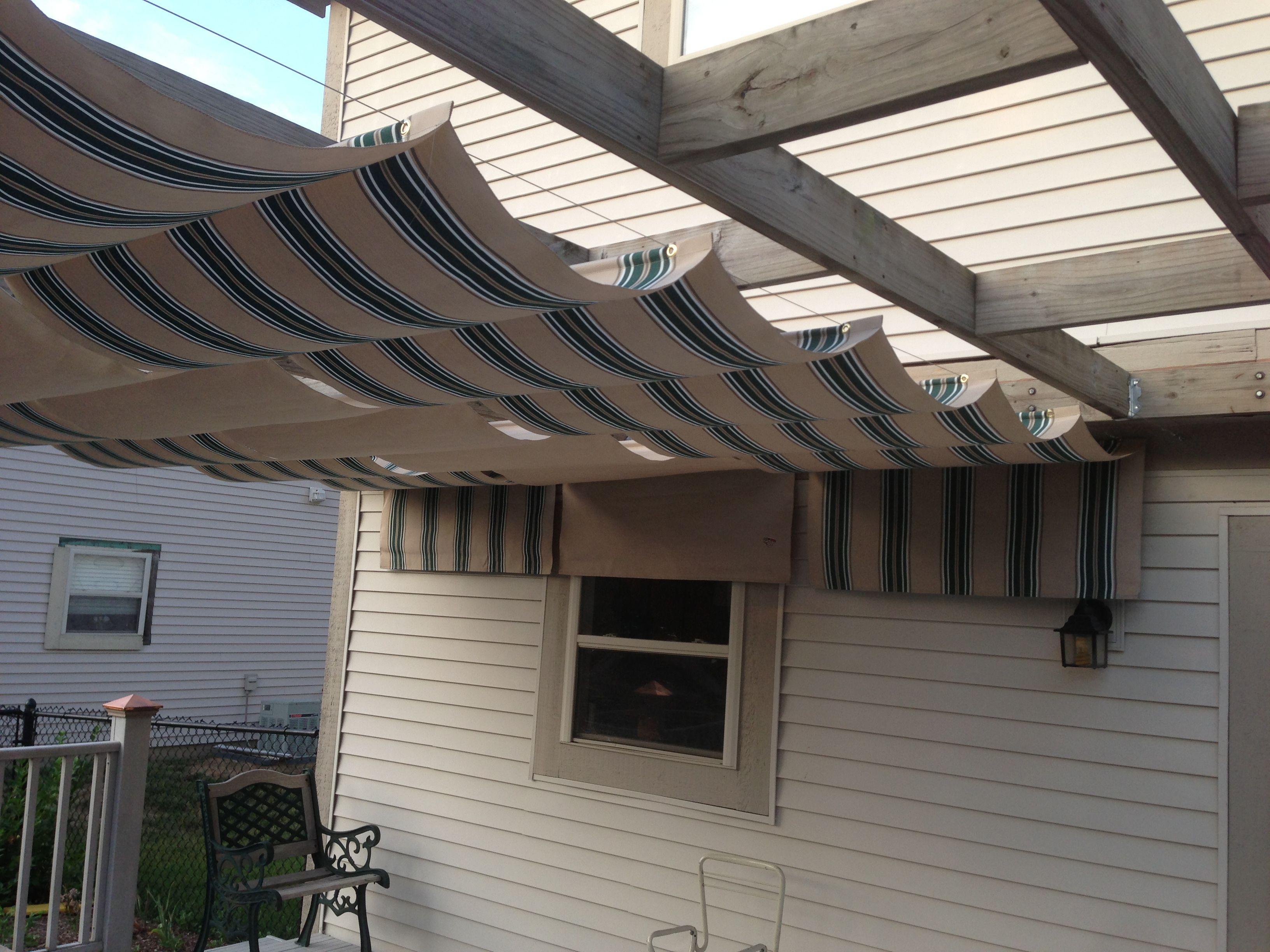 Retractable DIY Sunshade (grommets And Wire)
