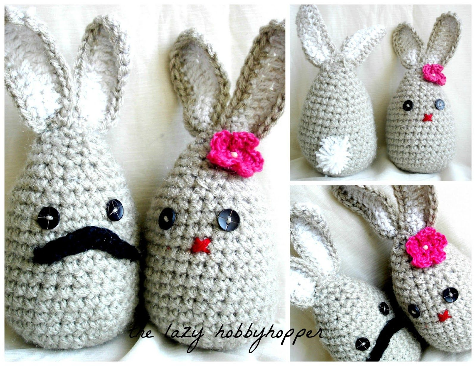 Mr. and Mrs. Bernard Bunny - Free Pattern   swet   Pinterest ...