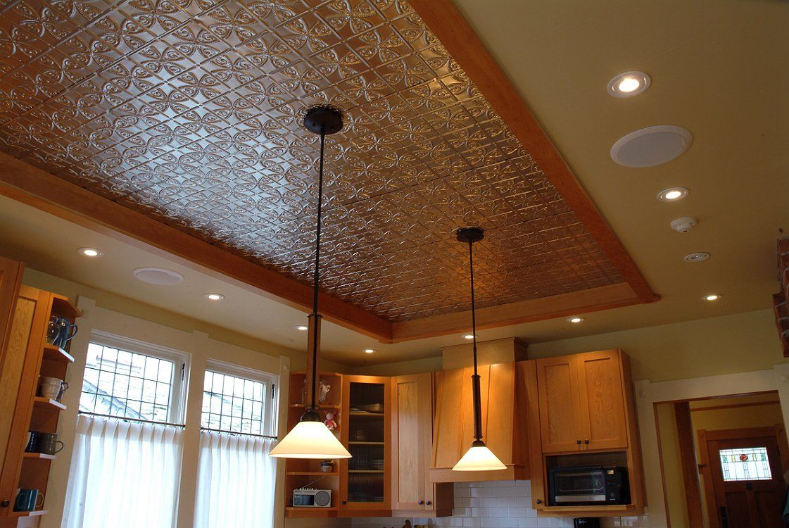 Partial tin ceiling over basement kitchen? | Basement | Pinterest | South  hampton, Countertop and Tin ceilings