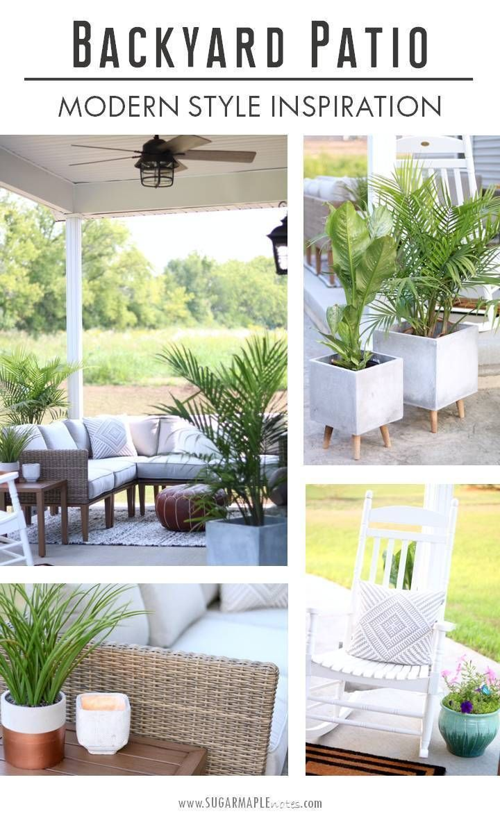 Cozy Modern Patio Reveal | Casual Parenting | Pinterest | Bohemian Patio, Modern  Patio And Patios