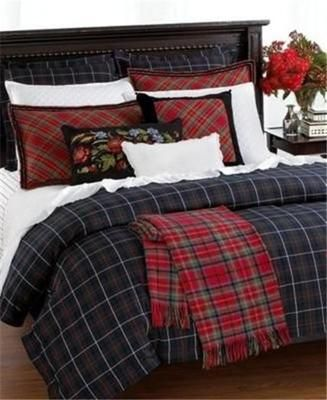 Ralph Lauren Skating Party Tartan Plaid 8PC King Duvet Comforter Cover Set  New | EBay