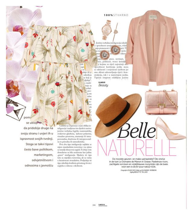 """""""Belle Naturelle"""" by catalalema on Polyvore featuring moda, Fendi, River Island, Janessa Leone, Jimmy Choo, Aspinal of London, Michael Kors y Ron Hami"""