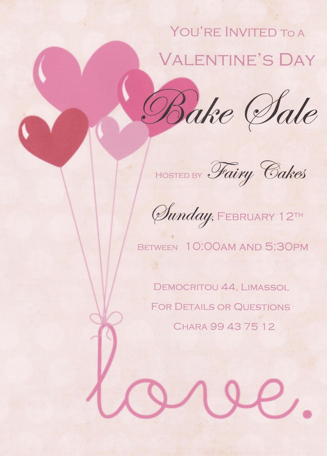 ValentineBakeSaleFlyer  Flyers    Bake Sale Flyer