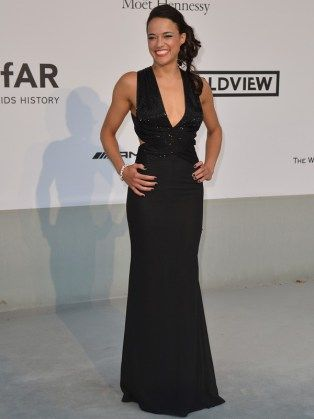 Michelle Rodriguez - AmfAR Cannes 2014