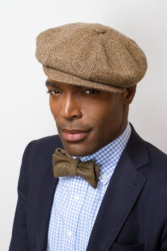 The Sutton Herringbone Newsboy Cap in Dark Chocolate by Prohibition Clothing 2a8aa6c299d
