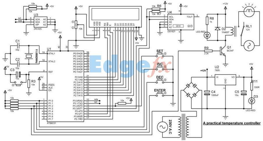 Temperature Controller Basics Circuit Operation And Best Application Temperature Control Circuit Diagram Humidity Sensor