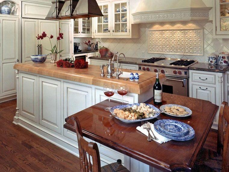 Cocinas pequeñas 50 ideas que impresionan | Armario blanco, Cocina ...