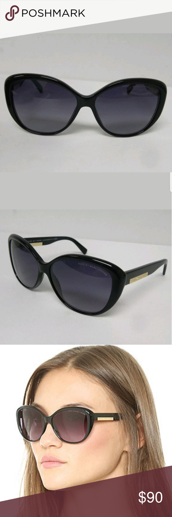 8d251a974a3 NWT Marc Jacobs Cat eye Big Sunglasses NWT Marc by marc jacobs sunglasses  MMJ 443 s 807 HD 58 140. Original black leather case. No cloth. Uv  protection.