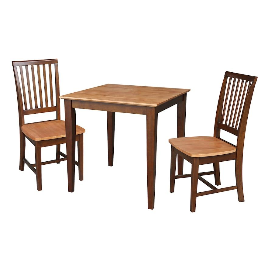 International Concepts Roderick Dining Table Chairs 3 Pc Dining