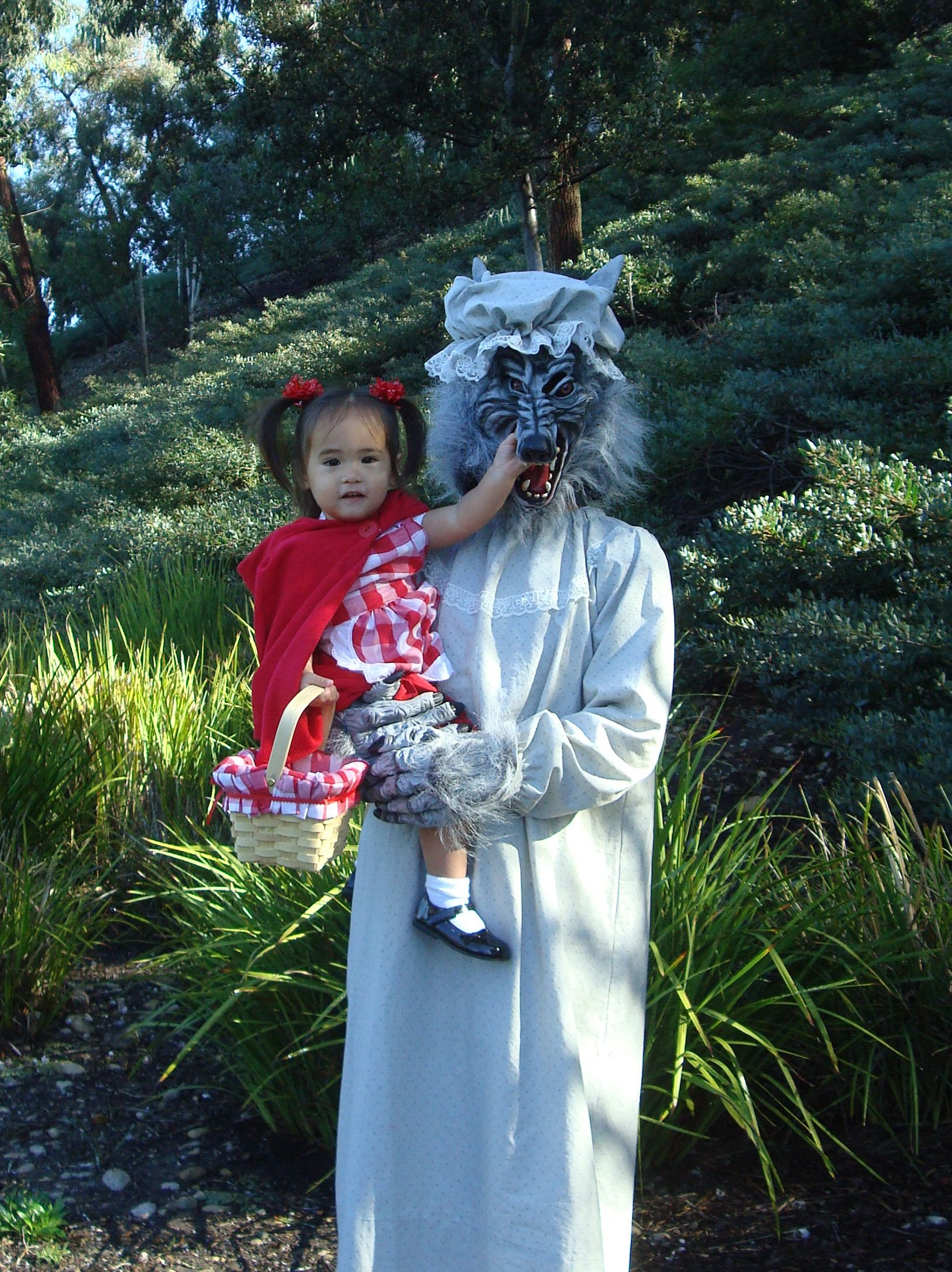 Little Red Riding Hood and Granny Wolf DIY costumes. Wolf mask ...