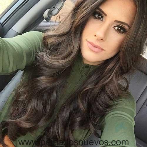 14 Largo Ondulado Peinado Peinados Zr Pinterest Peinado