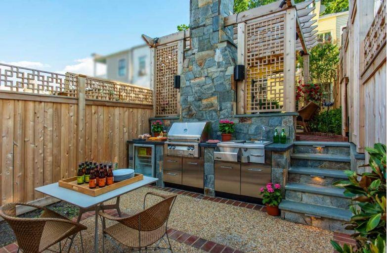 cute outdoor gourmet kitchen see more here https www homeandgardendesignideas com ide on outdoor kitchen herb garden id=68048