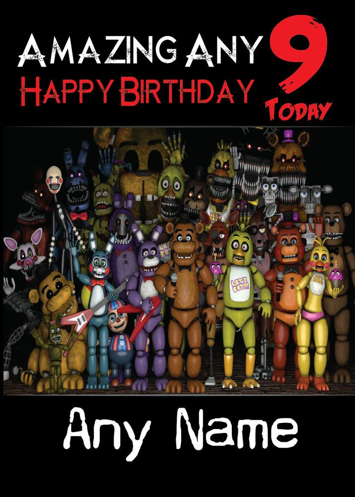 Five Nights at Freddy s 3 Personalised Birthday Card