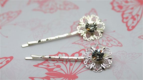 Diamante Round Hair clips Two By Twinkle by twinklejewellery, £6.00