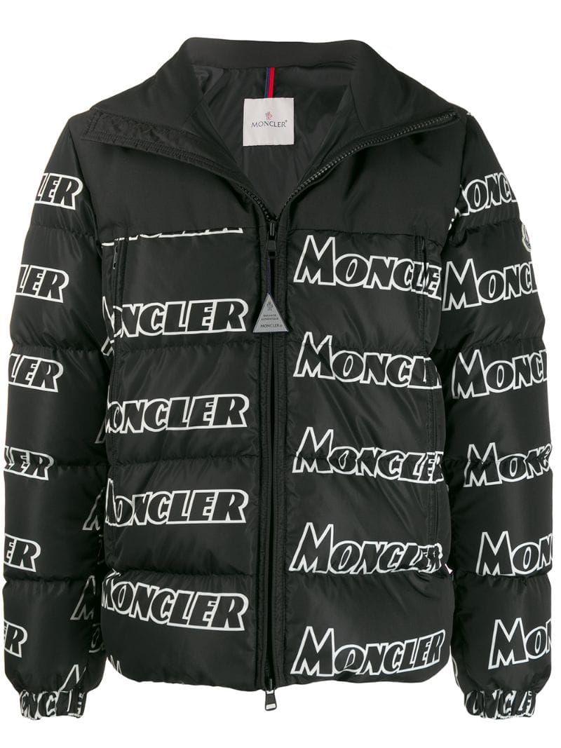 Moncler Logo Print Padded Jacket Farfetch Moncler Padded Jacket Jackets [ 1067 x 800 Pixel ]