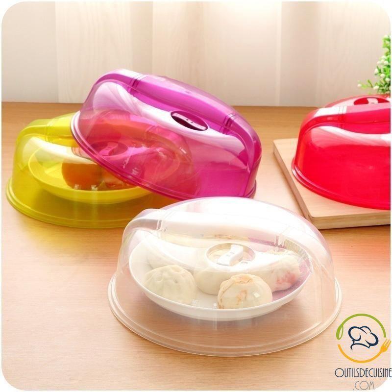 Couvre Assiette En Plastique Cloche Micro Ondes
