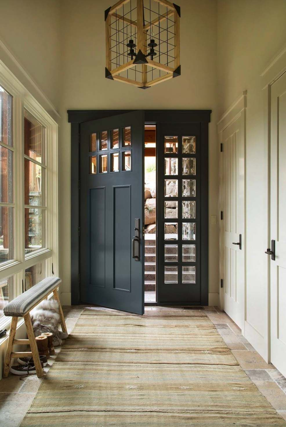 Gentil Ski Lodge Style Mountain Home Blending Rustic And Modern Details In Utah  Entry Doors, Front
