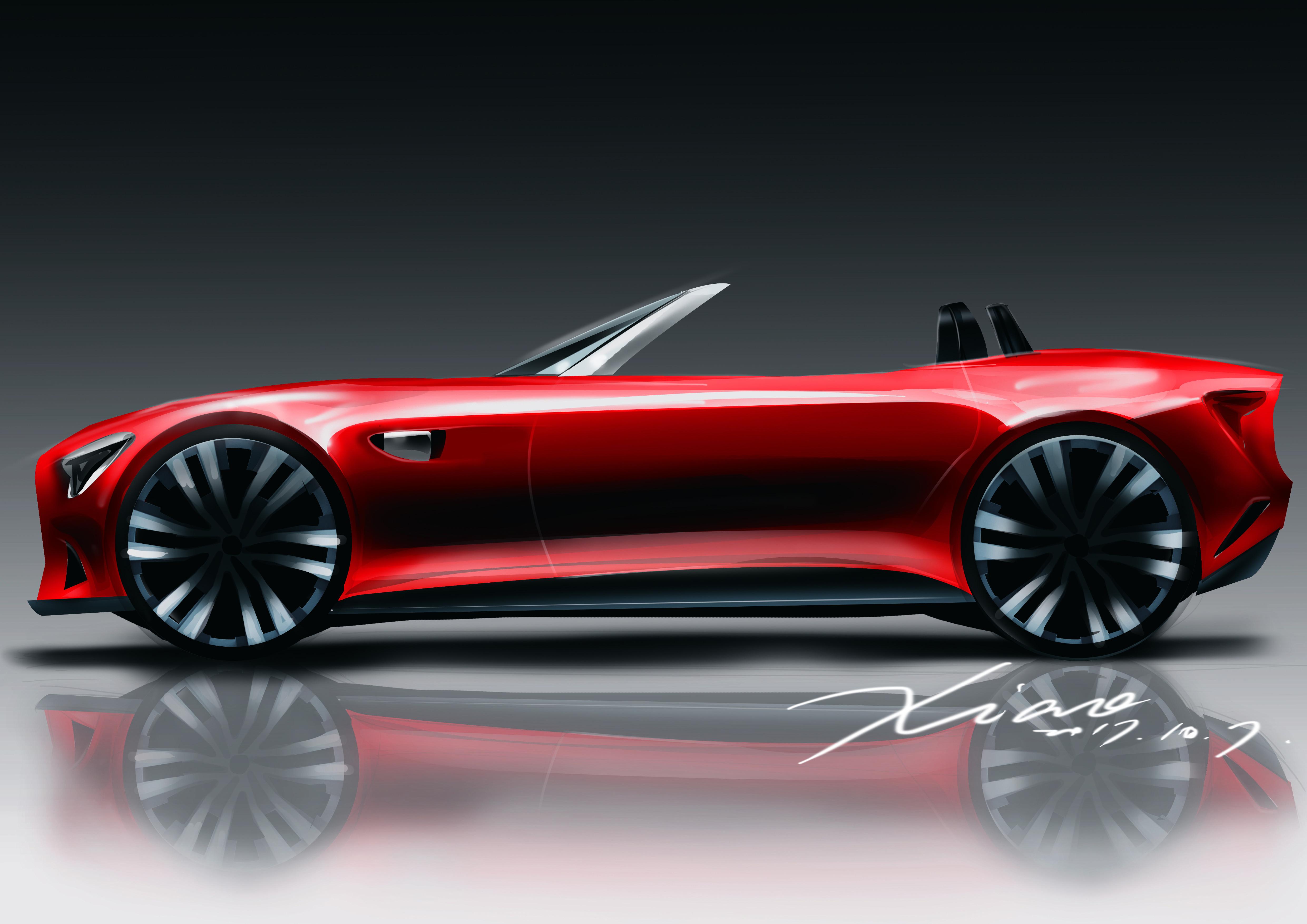 Convertible Car Design Side View Car Sketch Car Design Sports Car