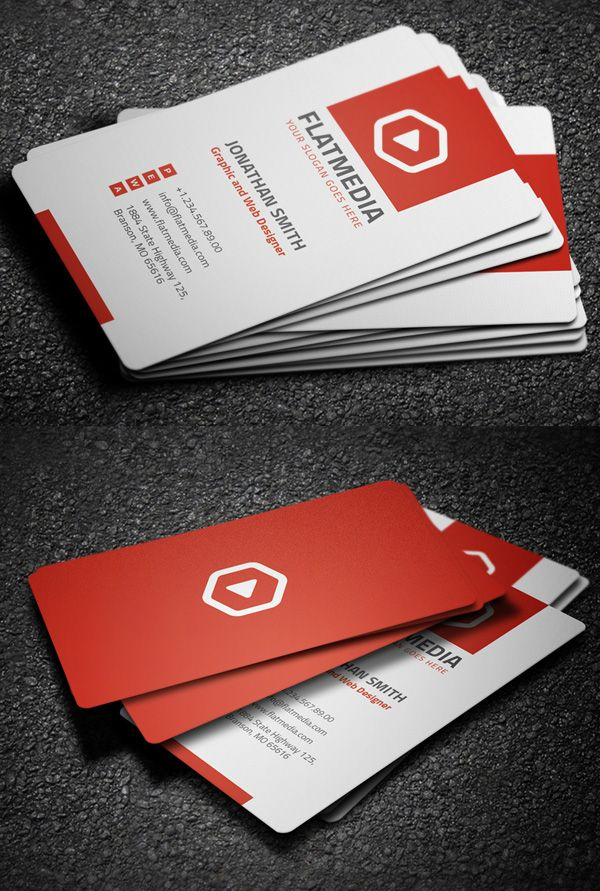 Corporate Business Card | Business card inspiration | Pinterest ...