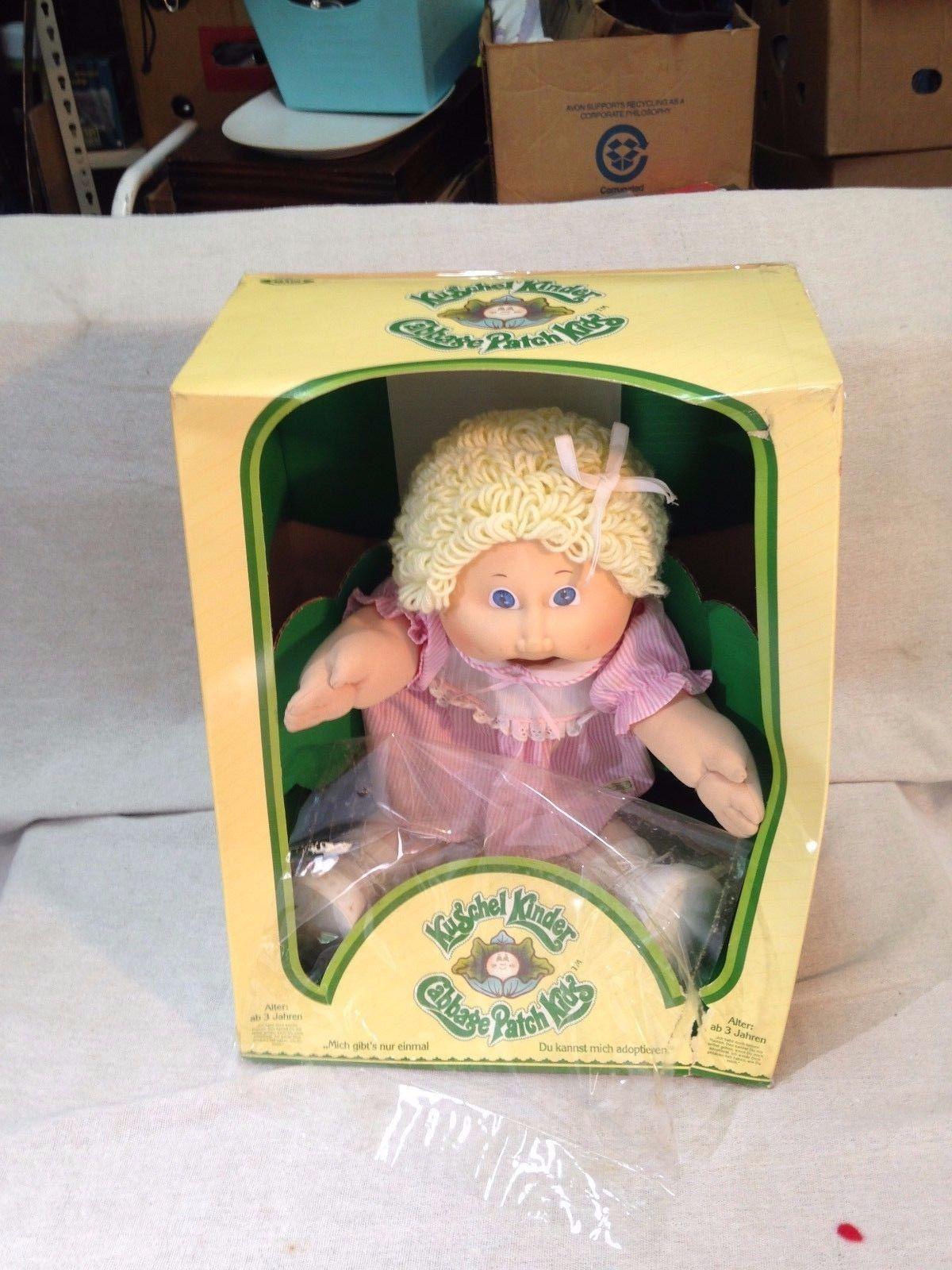 Vintage Original Cabbage Patch Kid Kushel Kinder German Doll With Box Cabbage Patch Kids Cabbage Patch Babies Cabbage Patch Dolls
