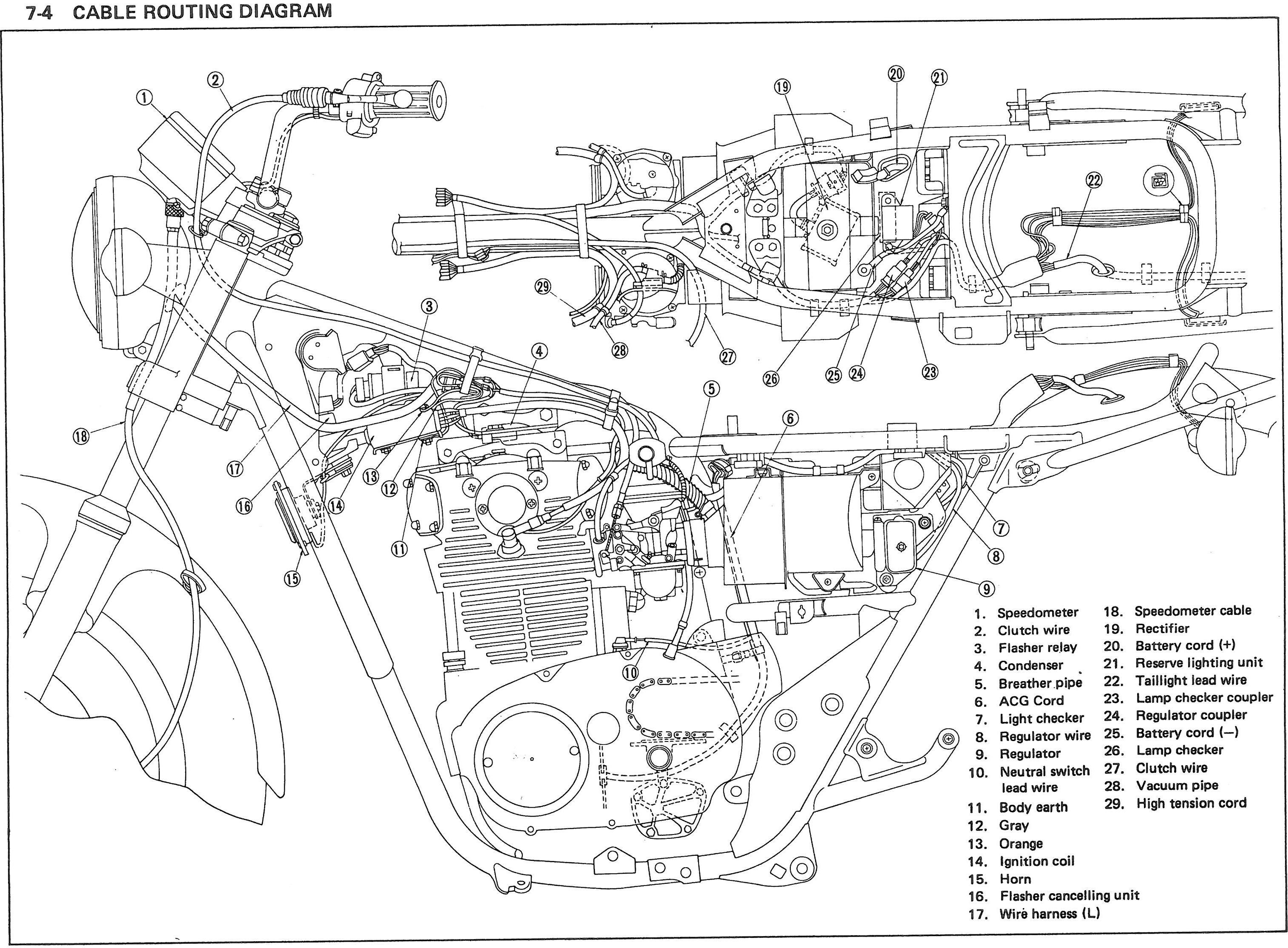 6a8055d2be1cf75e9abdb39ca388258e Yamaha Sr Wiring Diagram on