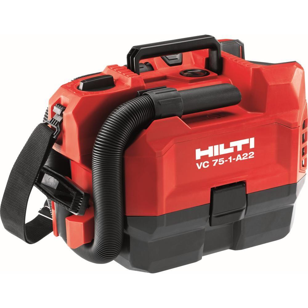 Hilti 22 Volt Vc 75 1 A22 1 Gal 75 Cfm Lithium Ion Cordless Vacuum
