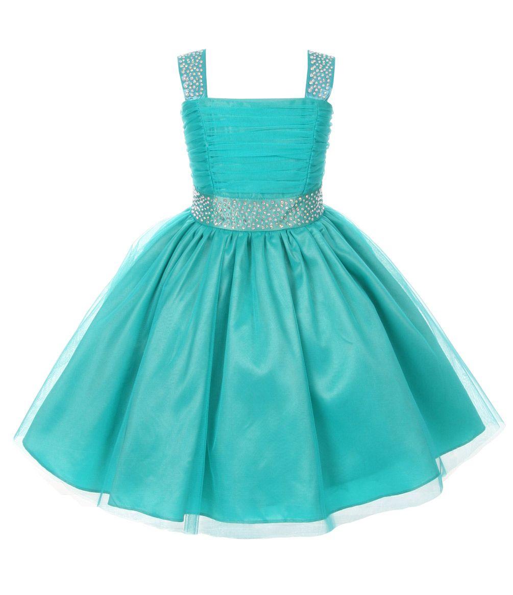Cinderella Couture Girls Sparkling Rhinestone Pageant Flower Girl ...