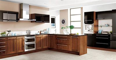 black gloss and wlanut | kitchen design | pinterest | walnut