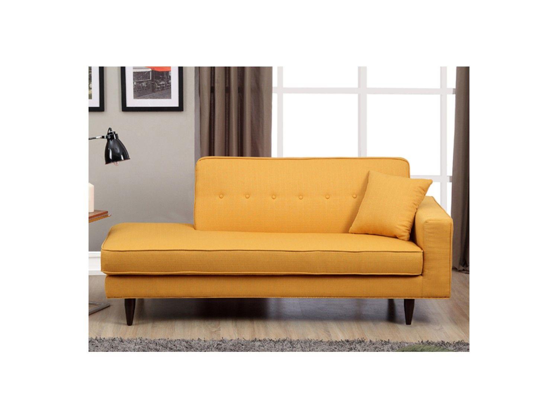 Amüsant Sofa Ecke Dekoration Von Recamiere Stoff Manon - Gelb - Links
