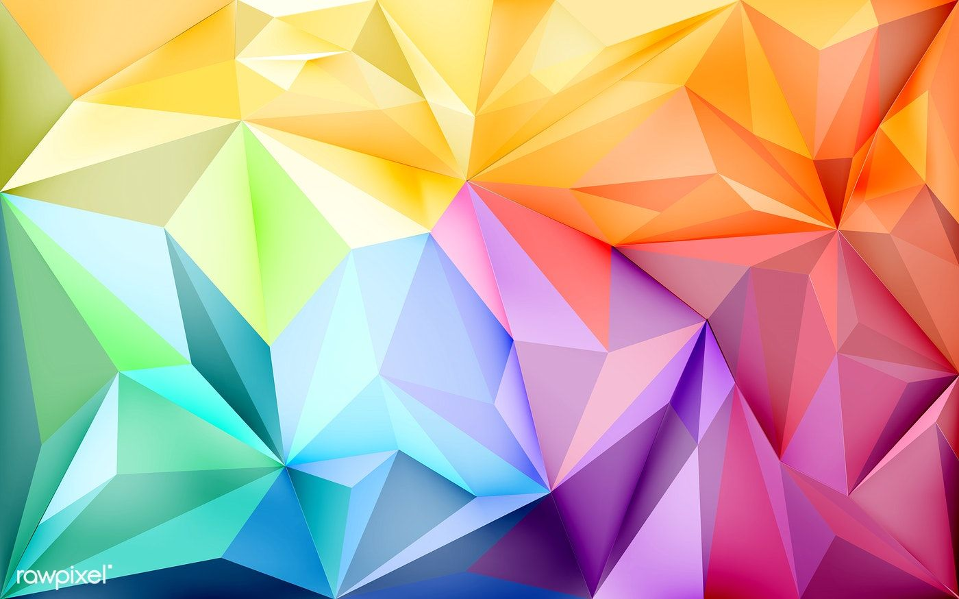 Background wallpaper with polygons in gradient colors ...
