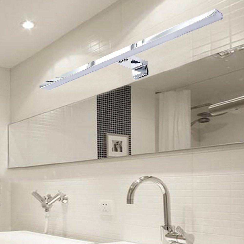 Croled lampe salle de bain led 8w blanc chaud ip44 aluminium eclairage pour miroir maquillage - Led pour salle de bain ...
