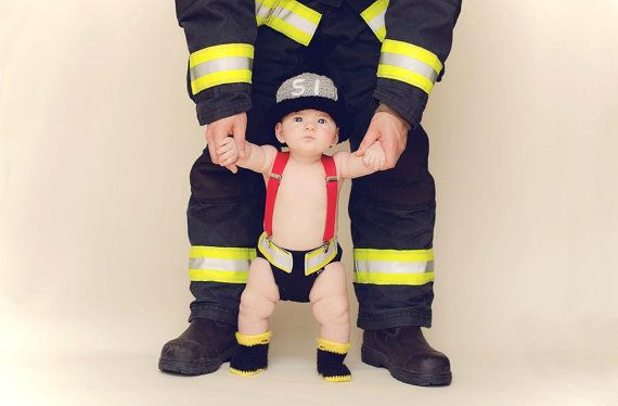 Newborn Firefighter Firefighter Baby Boy Baby Firefighter Fireman Diaper Cover Firefighter Baby Firefighter Baby Shower