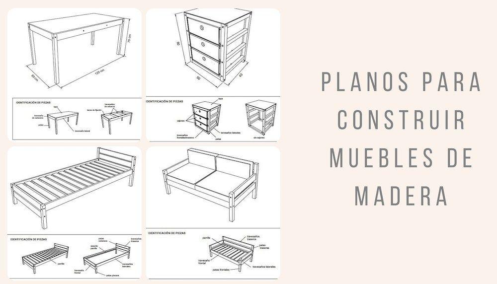 Planos para construir muebles de madera | Muebles de madera, Planos ...