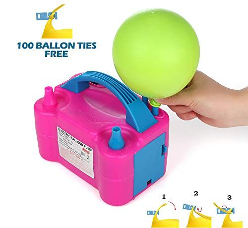 Party Zealot Electric Balloon Inflator Air Pump Dual Nozzles Balloons Blower US Standard P