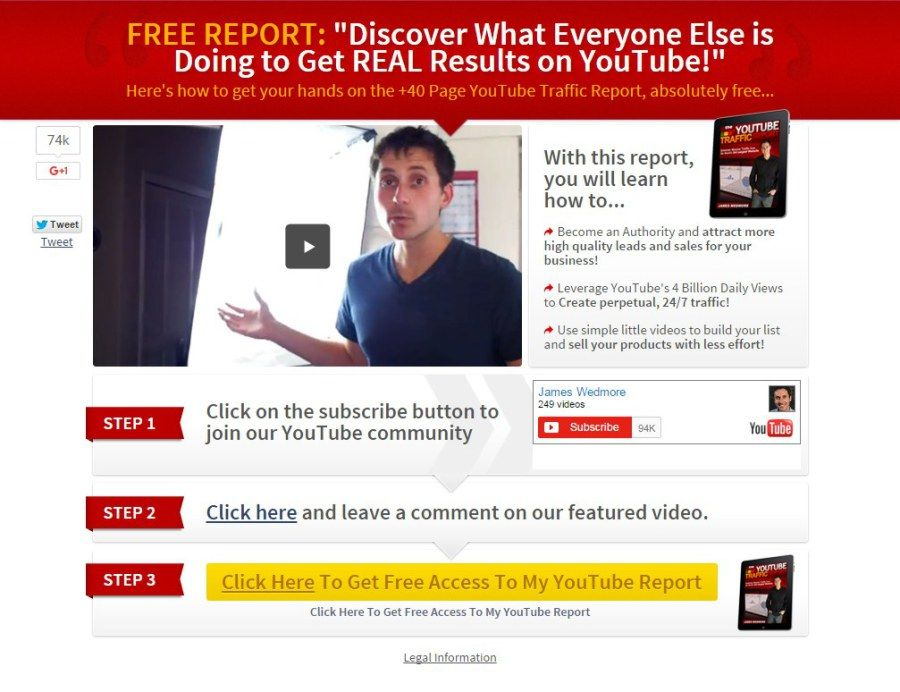 Best Video Landing Page - Free Template Best Landing Pages - free report templates