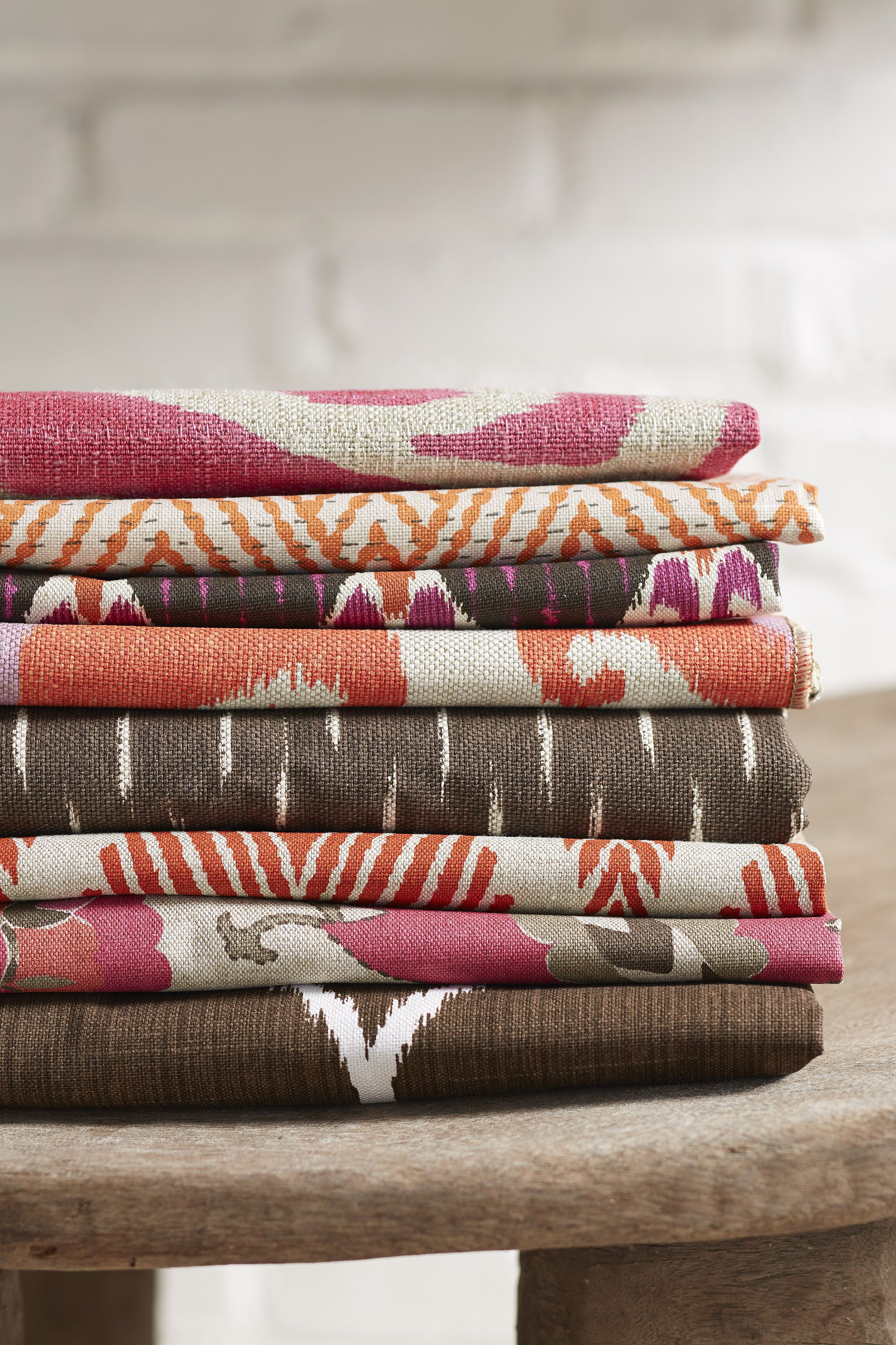 Lacefield Hibiscus Textiles #pink #ikat #colorful #textiledesigner #lacefielddesigns www.lacefielddesigns.com