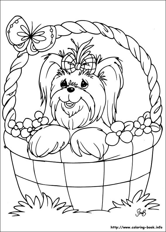 Precious Moments coloring picture. #pets #kids #coloring #