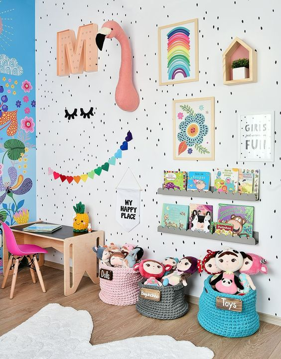 7 Of The Most Creative And Colorful Kid Room Ideas Pdb Trending Kids Rooms Diy Colorful Kids Room Kids Room Organization