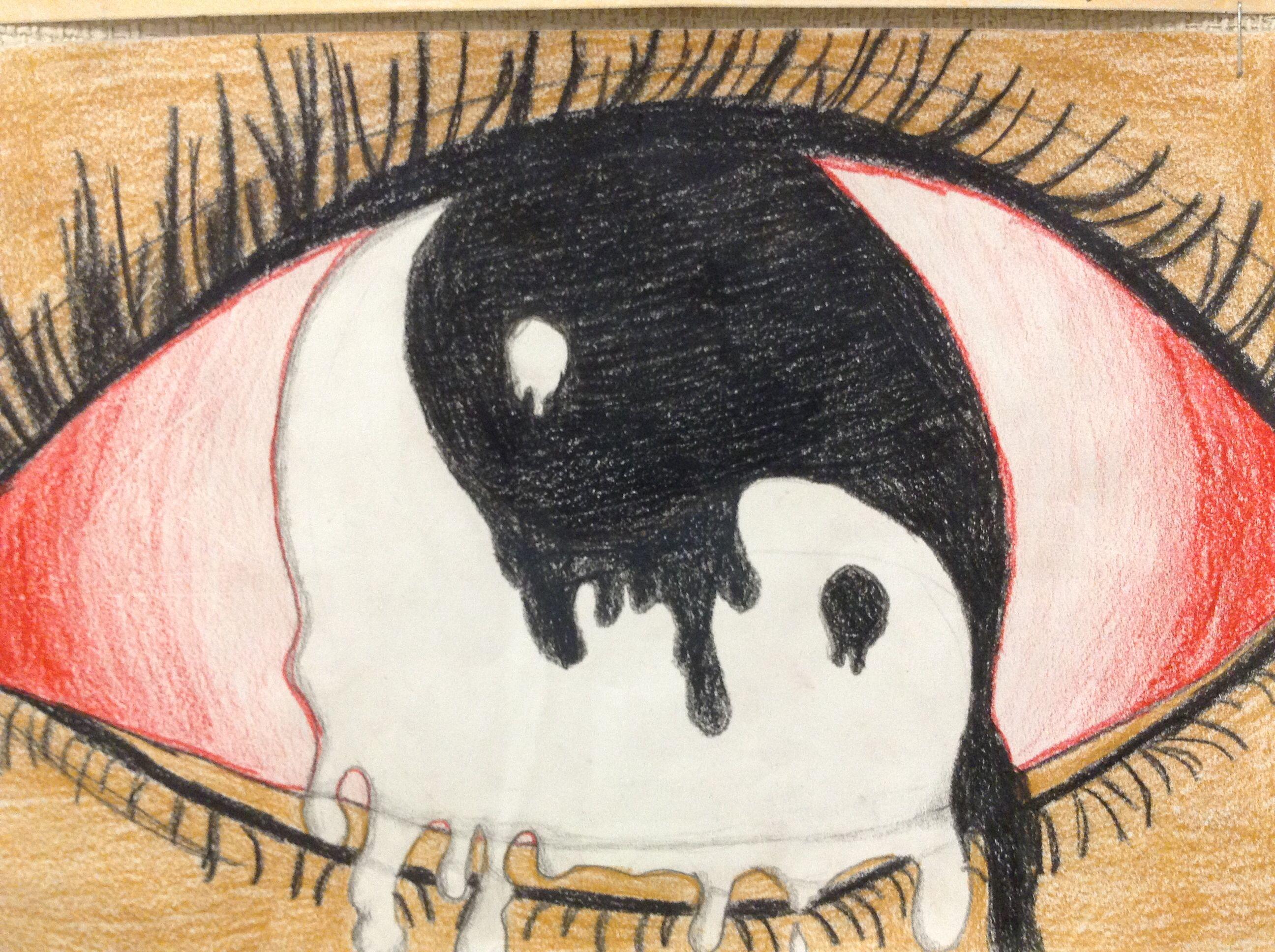 Artistic Surreal Eye Drawing