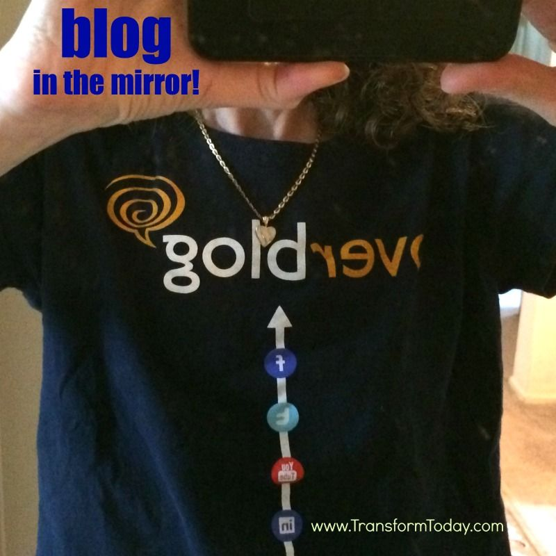 I looked in the mirror and saw gold! I think I need to #blog more. How about you? http://TransformToday.com