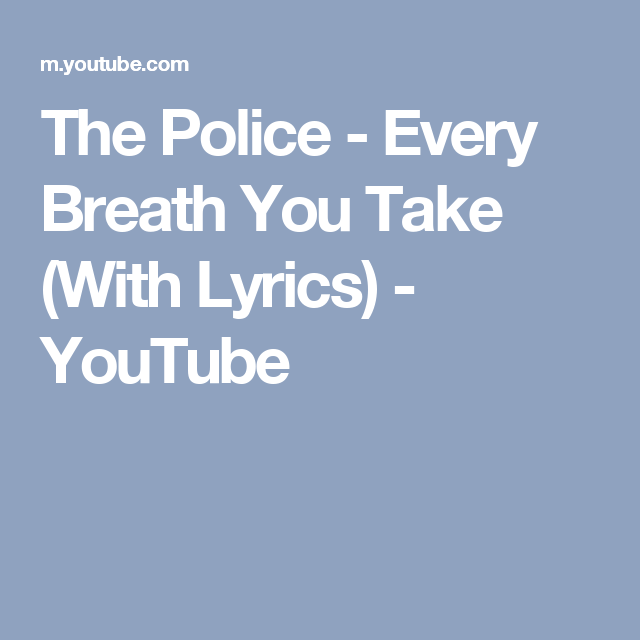 The police next to you lyrics