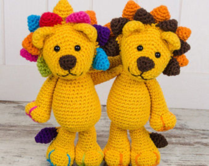 Crochet Amigurumi Lion Patterns : Browse unique items from oneandtwocompany on etsy a global