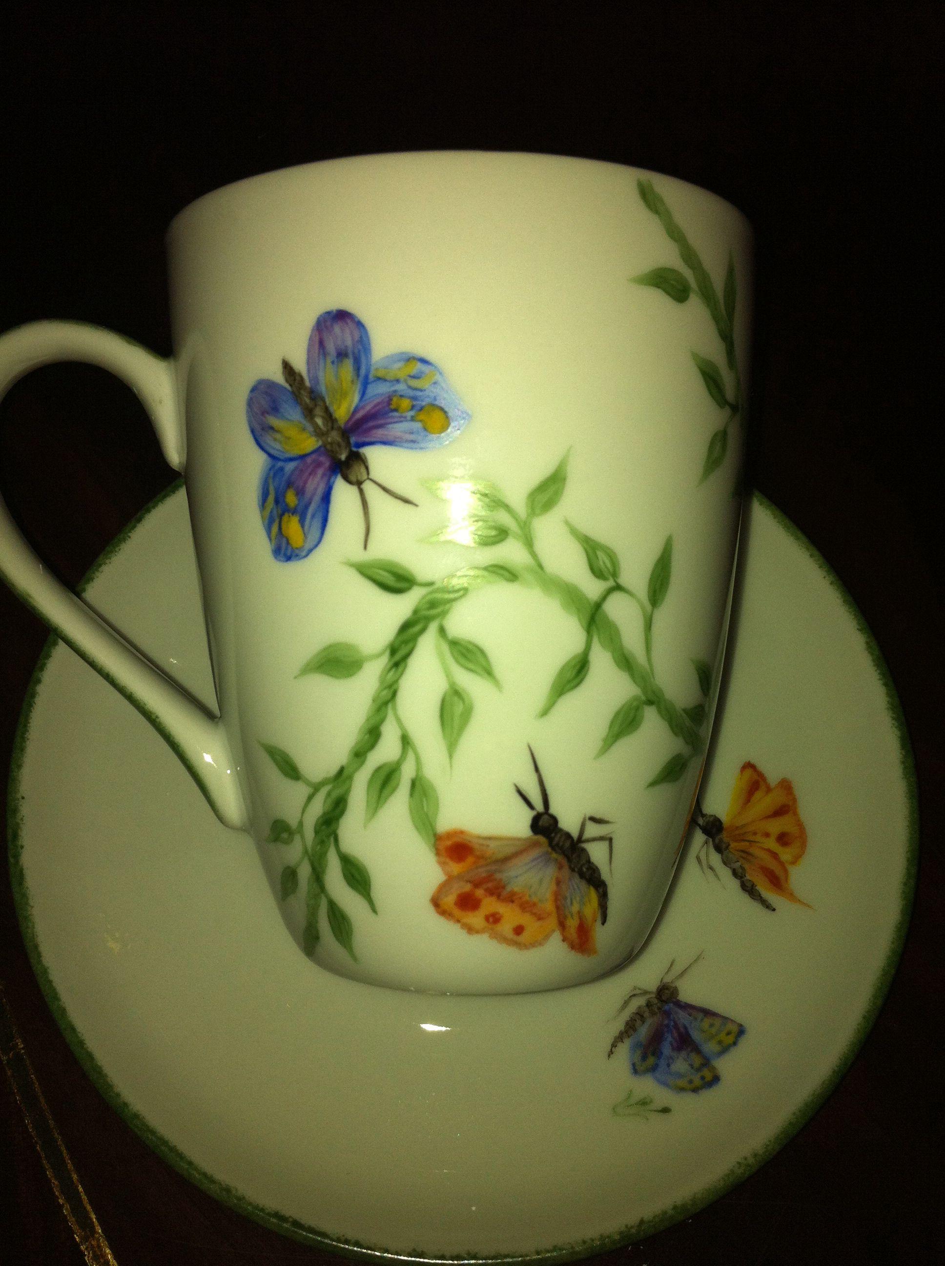 Butterflys mug 도자기 힘인휅 도자기 힘인휅