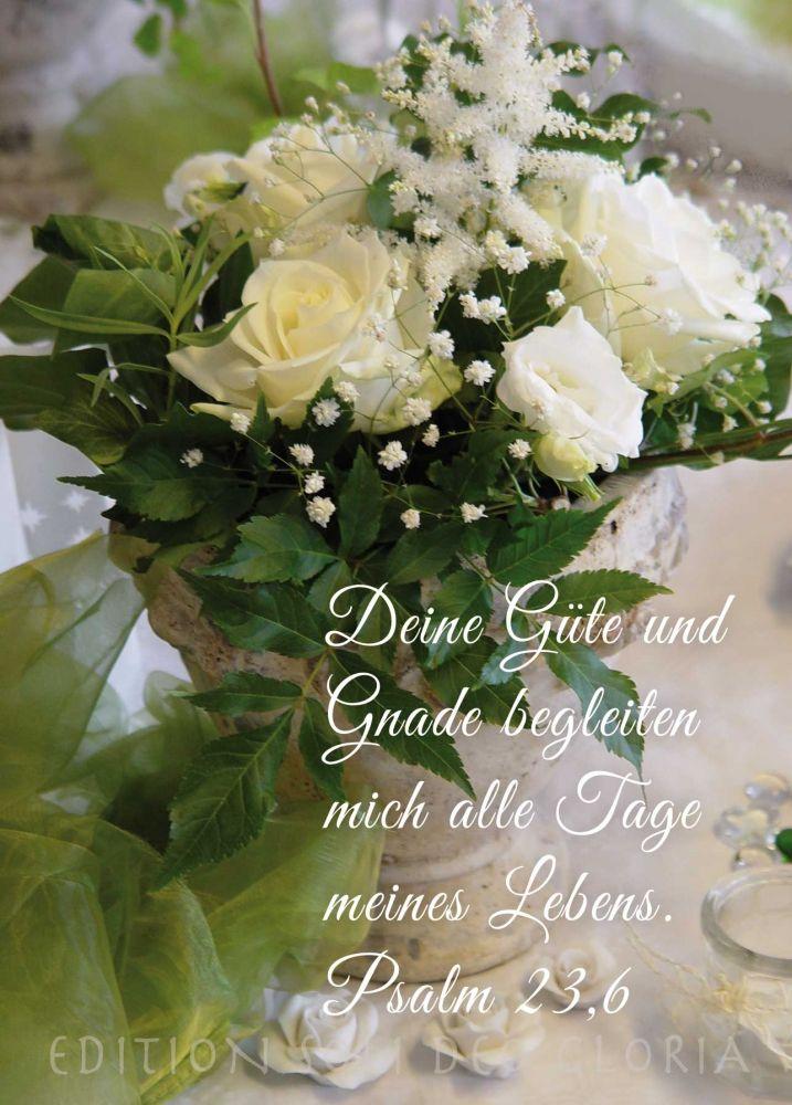 Christliche Postkarte 95 Gnade Gottes Liebe Glückwunsch Psalm 236